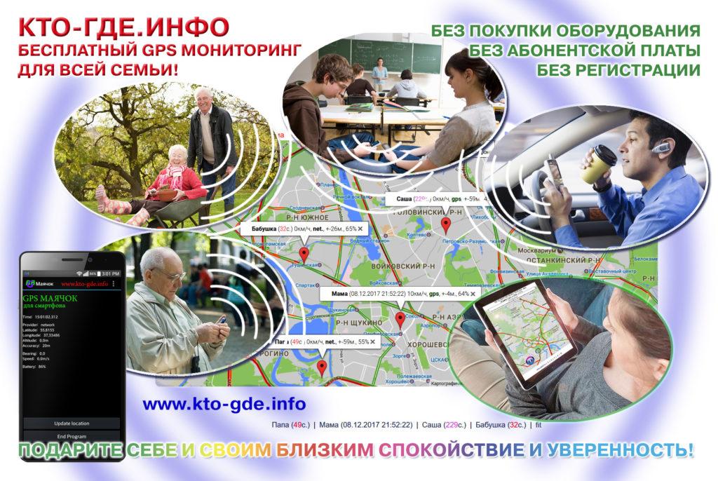 Система gps слежения КТО-ГДЕ.ИНФО состоит из трекера (маяка) и головной программы.